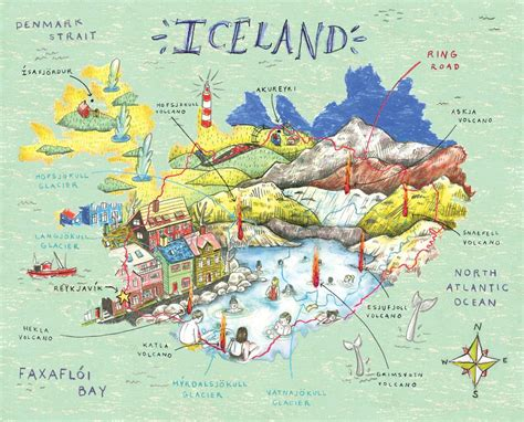 illustrated map iceland   Google Search | My Illustrated ...