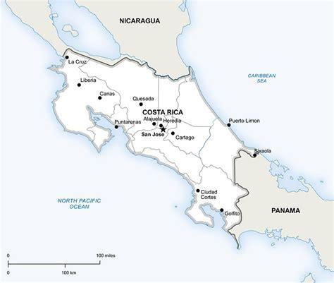Illustration gratuite: Politiques, Carte, Costa Rica ...