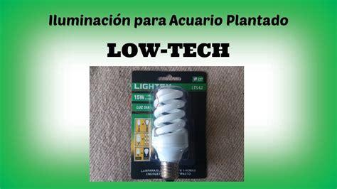 Iluminación para Acuario Plantado Low Tech - YouTube