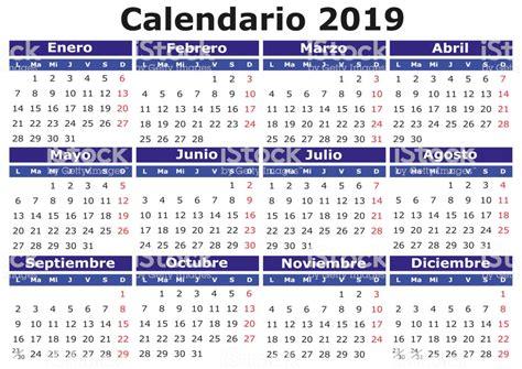 Ilustração de Espanhol Calendário 2019 Horizontal e mais ...