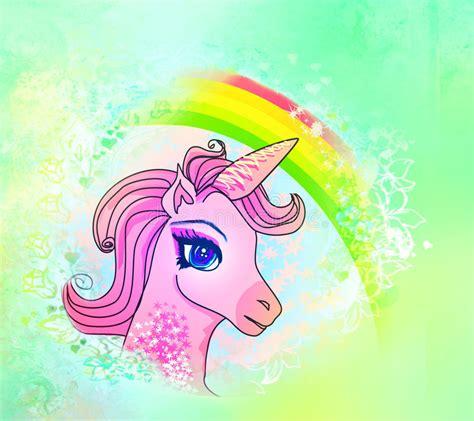 Ilustração Do Unicórnio Cor de rosa Bonito. Ilustração ...