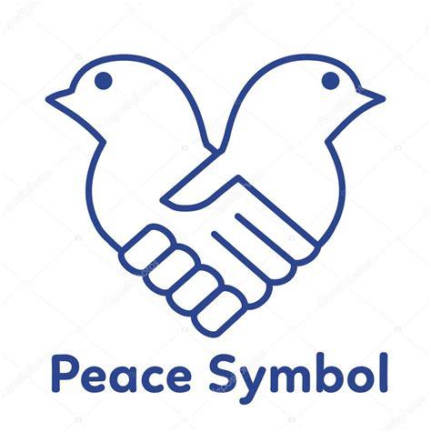 Ilustração em vetor símbolo paz. Conceito de aperto de mão ...