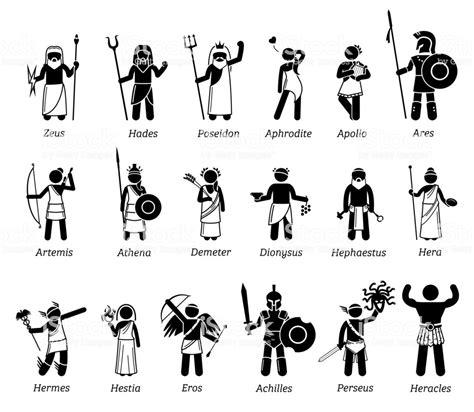 Ilustración de Antiguo Mitología Griega Dioses Y Diosas ...