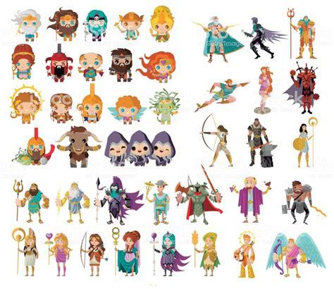 Ilustración de Dioses Y Seres Mitológicos De La Mitología ...