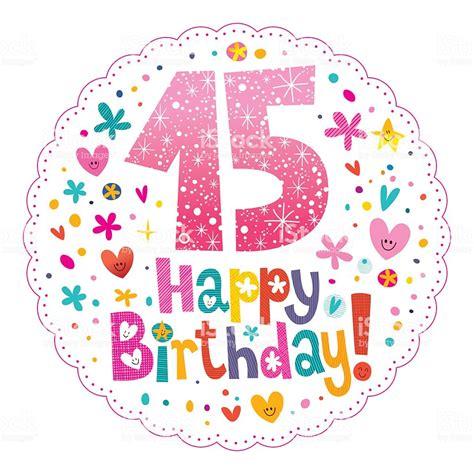 Ilustración de Feliz Cumpleaños 15 Años Tarjeta De ...