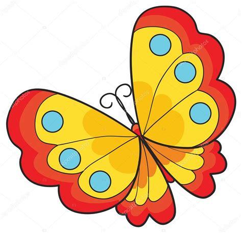 Ilustración de mariposa de dibujos animados — Vector de ...