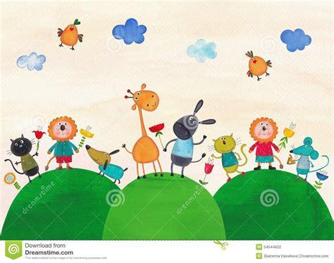 Ilustración para los niños stock de ilustración ...