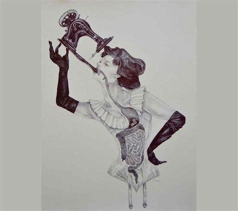 Ilustraciones que mezclan la anatomía humana y el arte
