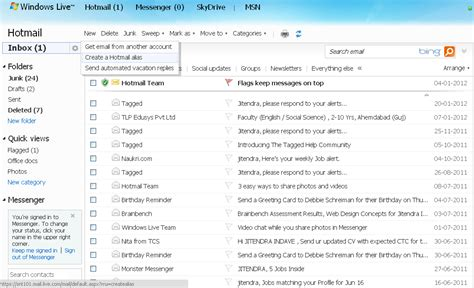 Image Gallery hotmail inbox
