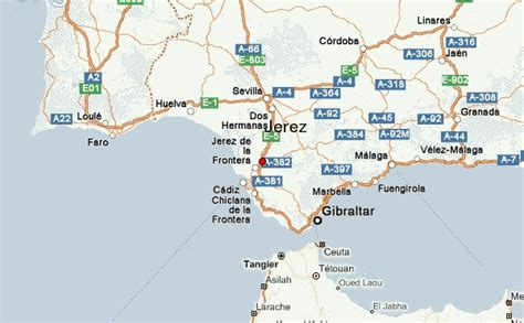 Image Gallery jerez spain map