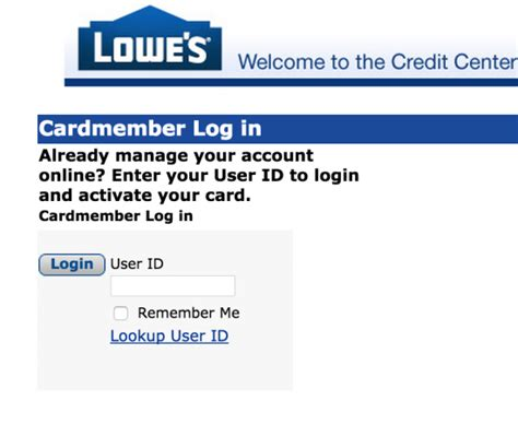 Image Gallery lowe's online account access