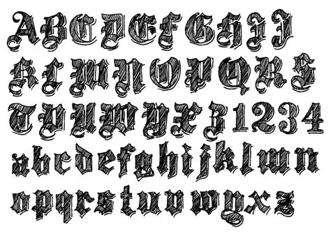 Image Gallery medieval font 2