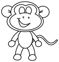Image Gallery monkey drawing easy