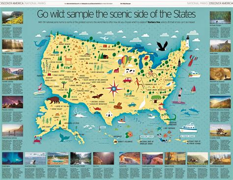 Image Gallery national parks map