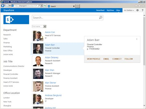 Image Gallery sharepoint people