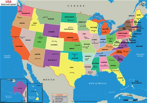 Image Of Us Map With States | Cdoovision.com