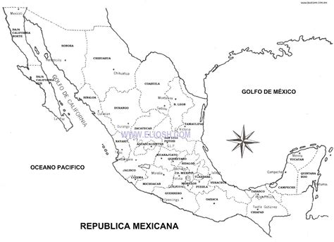 Image result for mapa de mexico estados y capitales ...
