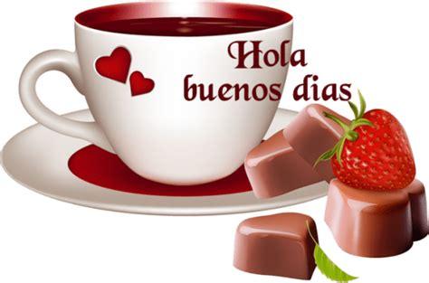 Imagen Buenos Dias Con Corazones Y Taza De Cafe