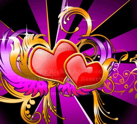 Imagen de amor de corazones con movimiento
