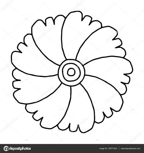 imagen de flor para colorear   Ideal.vistalist.co