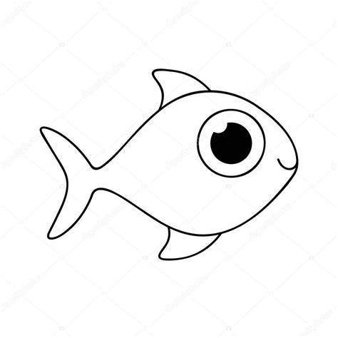imagen de icono de dibujos animados de peces — Archivo ...