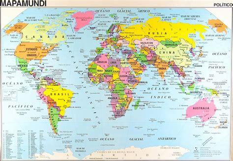 imagen  del mapaMundi con todos los paises y sus nombres ...