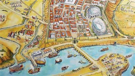 Imagen idealizada de la Córdoba romana, donde se puede ver ...