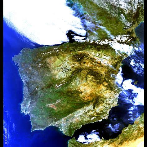 Imagen satelital de España 2002 - Tamaño completo