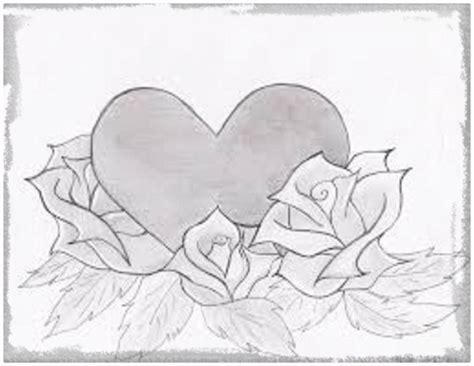 Imagenes A Lapiz De Corazones para Enamorados   Dibujos de ...