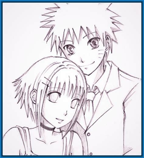 Imagenes animes enamorados con frases y para dibujar ...