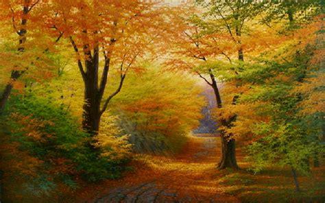 Imágenes Arte Pinturas: Paisajes decoraciones del otoño en ...