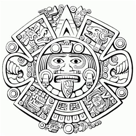 Imagenes aztecas y mayas para colorear - Imagui
