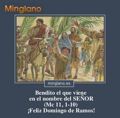 IMÁGENES con FRASES del DOMINGO de RAMOS