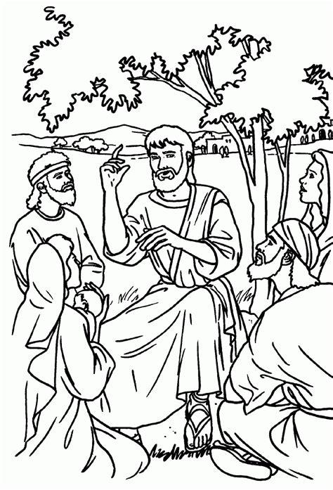 Imagenes Cristianas Para Colorear: Jesus Enseña Para Colorear
