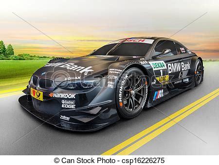 Imágenes de deporte, coche, BMW, salida del sol, concepto ...