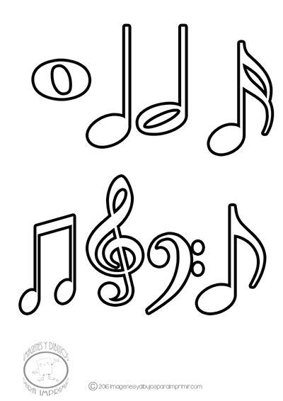 Imagenes de dibujos de las notas musicales para imprimir y ...