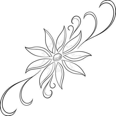 Imágenes de Flores para colorear   Dibujos De