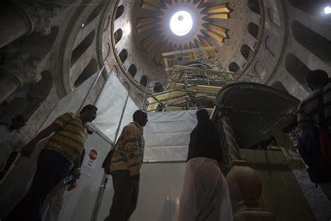 Imágenes de la restauración de la tumba de Jesús - Mosaico CSI