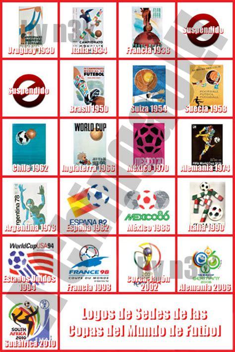 Imágenes de los logos de las copas mundiales de fútbol