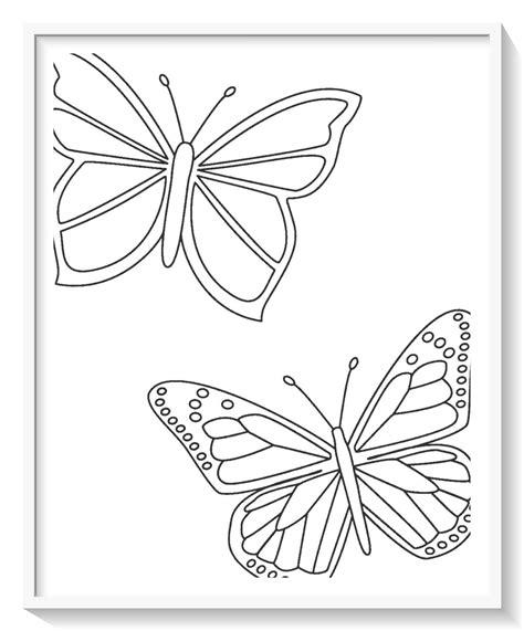 imagenes de mariposas para colorear grandes - Dibujo imagenes