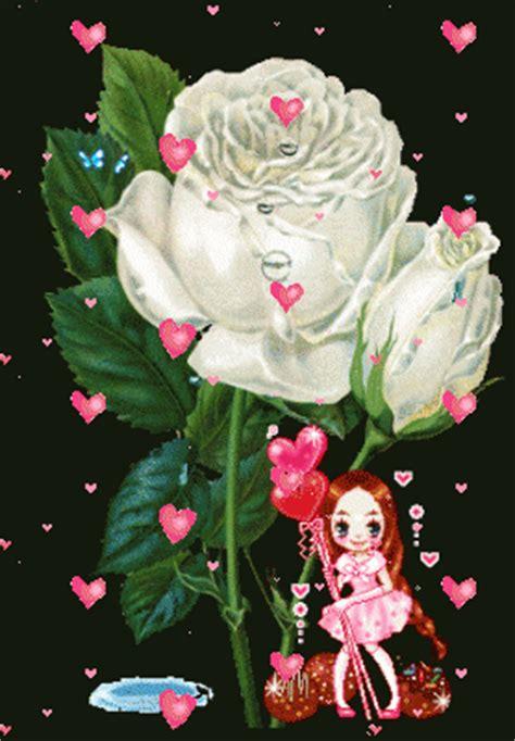 Imágenes De Rosas Blancas Con Movimiento Para Fondos ...