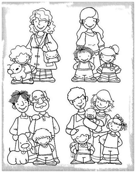 Imagenes de Tipos de Familia para Colorear | Imagenes de ...