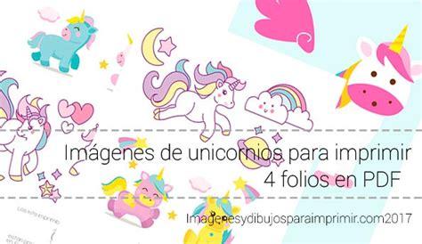 Imagenes de unicornios para imprimir