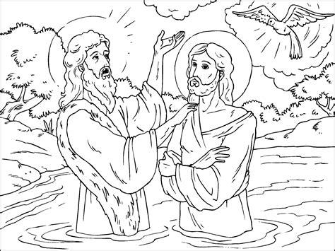 Imagenes del bautismo de Jesus para colorear   Imagui