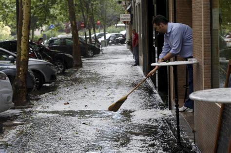 imágenes tormenta granizo madrid: Tiempo de invierno en el ...
