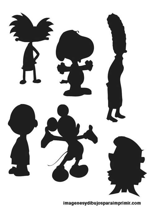 Imagenes y dibujos para imprimir: Siluetas dibujos ...