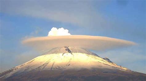 Impactantes nubes en el volcán Popocatépetl [VÍDEO]