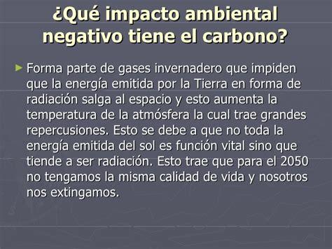Impacto Ambiental Del Carbono 1