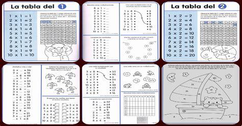 Impresionante cuaderno de repaso. Tablas de multiplicar ...
