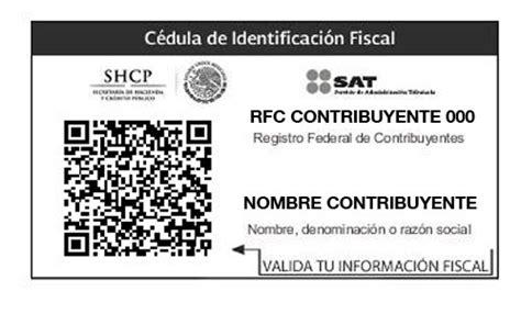 Imprimir RFC - Cédula de Identificación Fiscal con CBB ...
